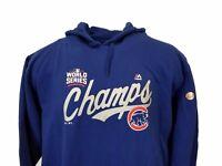 Chicago Cubs 2016 World Series Championship Womens MLB Sweatshirt Majestic, Blue