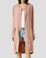 Bnwt Allsaints Elio bomber Parka coat.Dusty Pink.uk 4(fits 6)£228**ON OFFER*