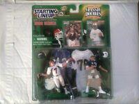 1998 STARTING LINEUP JOHN ELWAY SLU SP ($25) DAN MARINO DOLPHINS KENNER w/ CARDS