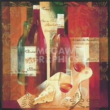 WINE ART PRINT - Cheers! by Verbeek & Van den Broek Winery Bar Poster 18x18