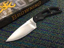 Couteau de Survie Browning-Skinner Lame Acier Carbone/Inox Manche G-10 br0098