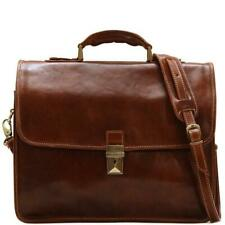 Used Leather Messenger Bag Briefcase Satchel Brown (7615BRU)