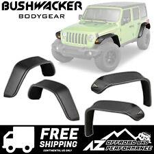 Bushwacker Flat Style Fender Flare Set for 18-20 Jeep Wrangler JL JLU - 10923-07