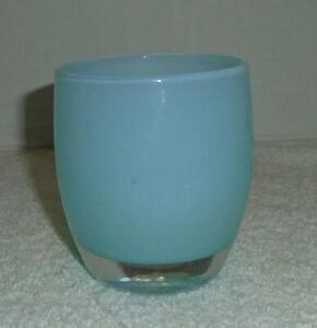 Glassybaby 'Aquamarine' Hand Blown Glass Votive Light Blue Mint w/Tag 0045