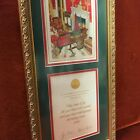43rd President George Bush and First Lady Signed, framed2004 Christmas Card