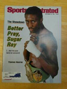 Sports Illustrated Sept. 14, 1981 The Showdown Pretty Sugar Ray Leonard, Hearns