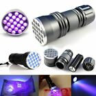 Portable UV Ultra Violet 9/21/51 LED Flashlight Blacklight Aluminum Torch Lamp #