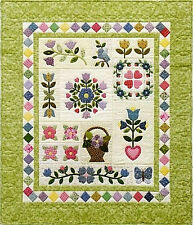 New Complete Block of the Month BOTM Quilt Pattern GRACIE'S GARDEN SAMPLER