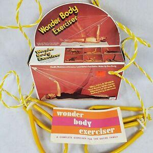 Vtg WONDER BODY Exerciser Portable Pulley Resistance Workout System w/Box Manual