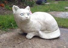 Stone Cat - Kitten Ornament Garden & Home Gift / Remembrance keepsake