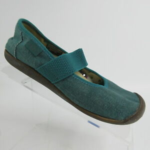 KEEN Sienna MJ Green Canvas Casual Slip On Mary Jane Shoes Flats Women's Size 7