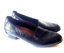 CLARKS ARTISAN KEESHA LUCA BLACK PATENT LEATHER LOAFER SHOES SIZE UK 6 D