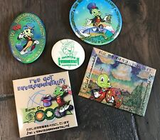 Disney Earth Days. 1998 - '99 -'00 - '01 plus Jiminy Cricket, 5 pin set