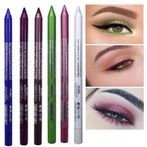 Eyeliner Pencil Matte Glitter Waterproof Eye Shadow Lip Liner Makeup Gel Pen ^