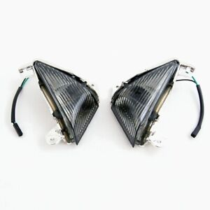 Kawasaki ZX6 ZX10 ZX14 Smoked Front Turn Signals Lenses 650R Z1000 ZZR1400