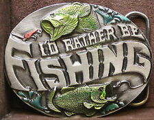 I Would Rather Be Fishing Belt Buckle