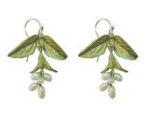 Sweet Basil Pearl Wire Earrings  by Michael Michaud, Silver Seasons #3090BZWP