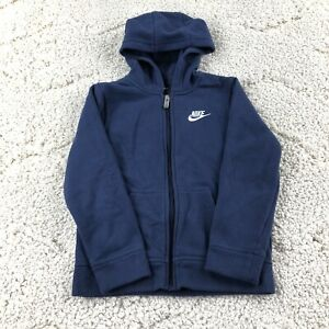 Nike Full Zip Hoodie Sweatshirt Blue Boy's Youth Size 6-7 Yrs Jacket Embroidered