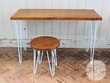 Rustic Retro Vintage Industrial Wooden Desk Dining Table Metal Hairpin Legs