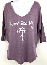 Alternative Clothing Yoga Top Purple Size Small EUC