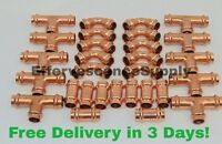 "(Lot of 30) 1/2"" Propress Copper Fittings.Tees, Elbows, Coupling, Press Fittings"