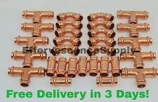 "(Lot of 30) 3/4"" Propress Copper Fittings.Tees, Elbows, Coupling, Press Fittings"