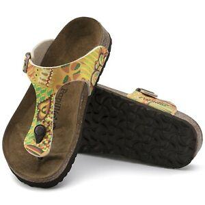Birkenstock Papillio Gizeh Birko-Flor Sandals African Wax Gold ( 43 )