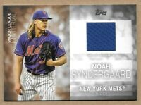 2020 Topps Series One Noah Syndergaard Game Used Jersey New York Mets Thor