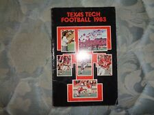 1983 TEXAS TECH RED RAIDERS FOOTBALL MEDIA GUIDE Yearbook Program Press Book AD