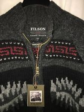 NEW FILSON MADE IN CANADA LIMITED EDITION RUNNING WOLF COWICHAN SWEATER S $495