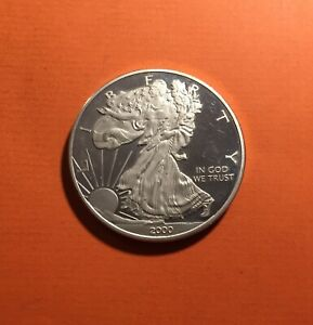 ONE DOLLAR 2000 B.E USA LIBERTY 1 DOLLAR AMERICAN SILVER EAGLE ONCE ARGENT 999