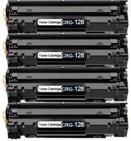 4 Black Compatible Replacement Toner Cartridges For Canon CRG128