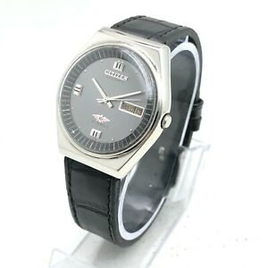 Vintage Citizen Cal. 8200 Day Date 36mm Automatic 21-Jewels Wrist Watch B1855