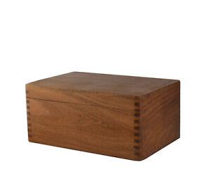 Elegant Schach Figuren Schatulle Kiste Akazien-Holz Aufbewahrung Box Kasten Filz