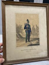 More details for antique rare framed military coloured lithograph gm kirn stuttgart as found