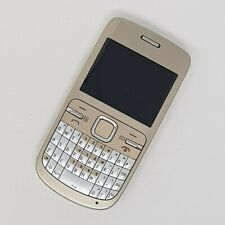 "Nokia C3-00 2G 2.4"" - Gold QWERTY FM radio, RDS - Working Condition - Unlocked"