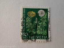 SUISSE SCHWEIZ, 1960, timbre 669, FLEURS, DENT DE LION, FLORE, FLOWERS, oblitéré