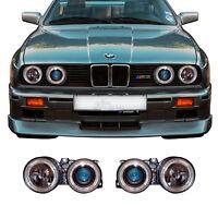 Scheinwerfer Set für BMW 3er E30 87-94 klar/schwarz Angel Eyes H1+H1 1004428