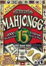 Ultimate Mahjongg 15 PC CDRom - 2000+ Backgrounds & 450 Tile Sets & 400 Layouts