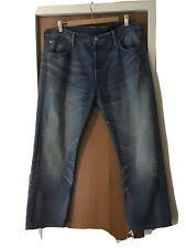 Para Hombre Levis 501 Azul Claro Cierre De Botones Jeans Denim Talla W 36 L 30