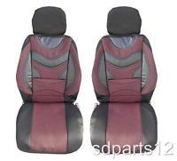 1+1 LUXE ROUGE MATELASSE HOUSSES COUVRE SIEGES POUR SEAT IBIZA LEON ALTEA AROSA