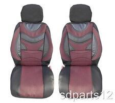 1+1 Premium Rojo-Negro Fundas Cubre Asientos para Opel Corsa Astra Vectra Combo