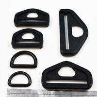 SIDE RELEASE  BUCKLE,SLIDER,LOOP,D RING PLASTIC CLIP FOR WEBBING DERLIN 6 SIZES