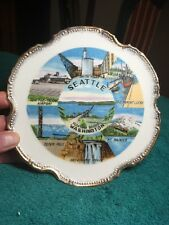 "Pre 1962 Seattle Washington Souvenir Collector's Plate - gold trim - 7- 1/4""."