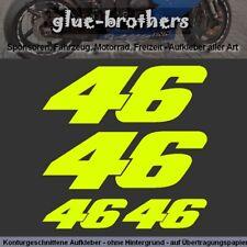 46 VR Aufkleber neongelb Valentino Rossi Sticker Moto GP Motorrad