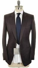 SALE Tom Ford Suit 2B Patch Pockets Silk Cotton 38 48 Brown Solid 14SU0103 $5900
