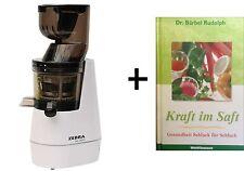"""Licuadora Cebra """" Whole Lento Juicer"""" - Color Blanco + Libro"""" Kraft en el Saft """""""