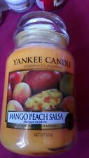 Yankee candle large jar. MANGO PEACH SALSA