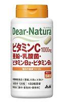 ASAHI Dear-Natura Vitamin C B2 B6 Zinc Lactic acid bacteria 120 capsules 60 days