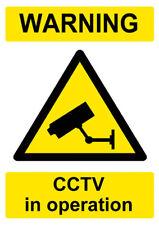 Warning Cctv In Operation Sign *Warning Laminated Sign* Beware